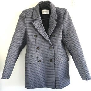 Sold BLUE PLAID COAT SIZE SMALL